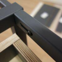 Stalen frame keuken - Detail van staalverbinding