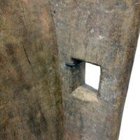 Stalen standaard voor Senufo-beeld - Detail van bevestiging