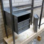 Wandkast met bureau en ladeblok - testopstelling